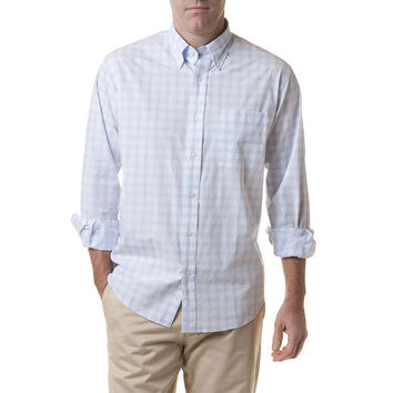 Chase Long Sleeve Shirt in Kent Check Blue by Castaway Clothing - FINAL SALE