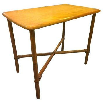 Pre-owned Heywood Wakefield Faux Bamboo Side Table