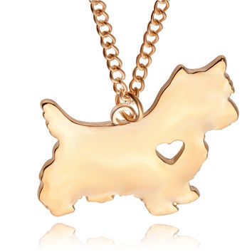 Wear your lovable yorkie around your neck let every one know she has your heart