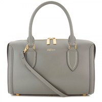 Herione small leather bowling bag