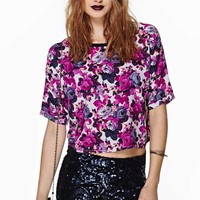 Bright Bloom Crop Tee