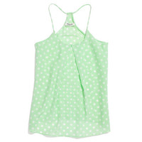 Silk Pleat Cami in Polka Dot - shirts & tops - Women's NEW ARRIVALS - Madewell