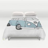 VW Camper Duvet Cover by 1and9