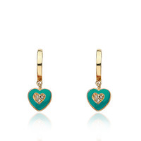 Little Miss Twin Stars LMTS I LOVE MY JEWELS Turquoise Heart Huggy Earring Child
