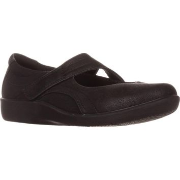 Clarks CloudSteppers Sillian Bella Mary Jane Flats, Black, 9.5 US / 41 EU