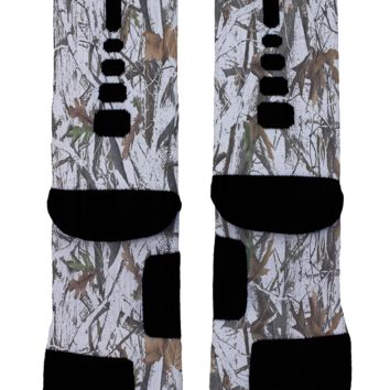 Winter Forest Camo Custom Nike Elites