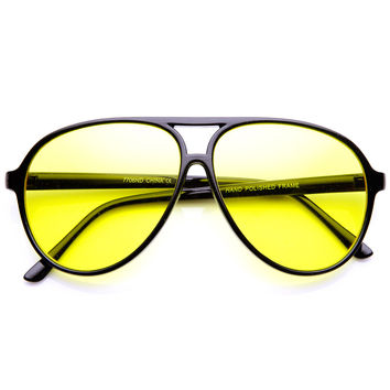Yellow Rounded Sunglasses
