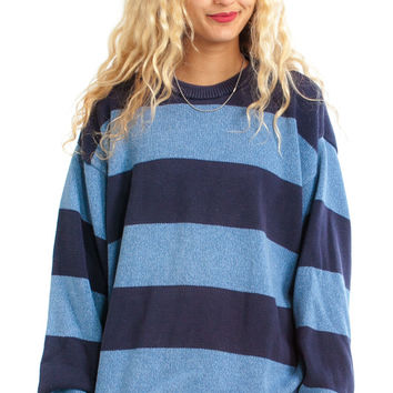 Vintage 90's Big Blue Pullover - One Size Fits Many