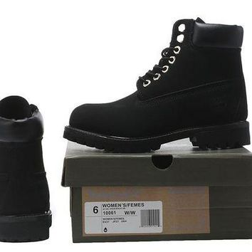 DCCKBE6 Timberland Rhubarb Boots All Black Waterproof Martin Boots