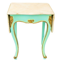 1STDIBS.COM - Gardenhouse - Drop Leaf Side Table with Faux Marble Top