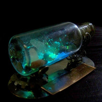 Magic Cave in a Bottle  Glow in the Dark Cavern Scene by Clover13