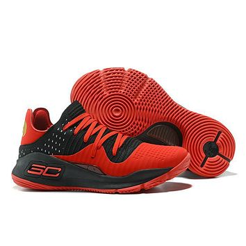Under Armour Men's Sc30 Stephen Curry 4 Low Red/black Sport Sneaker | Best Deal Online