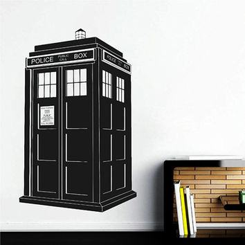 kik2244 Wall Decal Sticker Time Machine Spaceship tardis doctor who living children's bedroom