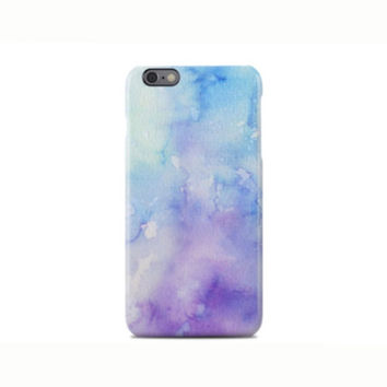 Blue & Purple Watercolor Pattern iPhone 6 Case - iPhone 6 Plus Case - iPhone 5 Case - iPhone 5S Case - iPhone 5C Case