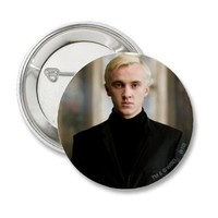 Draco Malfoy Straight On Button from Zazzle.com