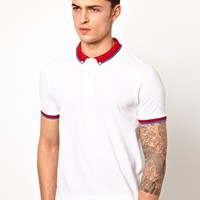 ASOS Polo With Contrast Tipping at asos.com