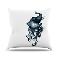 "Graham Curran ""Elephant Guitar"" Outdoor Throw Pillow"