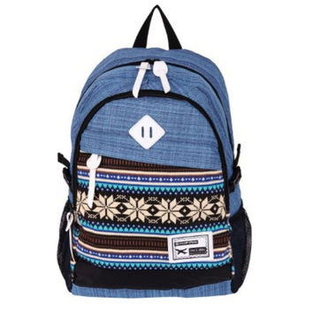 Blue Ethnic Laptop Bag Daypack Backpack School Bookbag Travel Bag