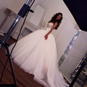 2015 New Arrival Super Sparkling Crystal Sexy Luxury Big Train Bandage Wedding Dress Ball Gown Vestido De Noiva