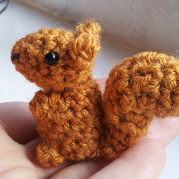 Bitty Squirrel Pattern - crochet PDF pattern amigurumi patterns easy crochet patterns crochet squirrel pattern amigurumi squirrel