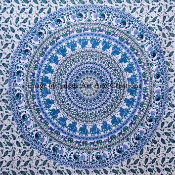 Indian Mandala, Blue Mandala Tapestry, Hippie Tapestries, Wall Hanging, Bohemian Tapestries, Tapestry Throw, Wall Tapestries, Dorm Decor
