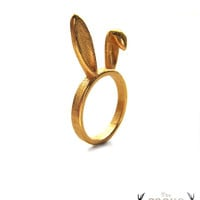 Gold Bunny Ears Ring
