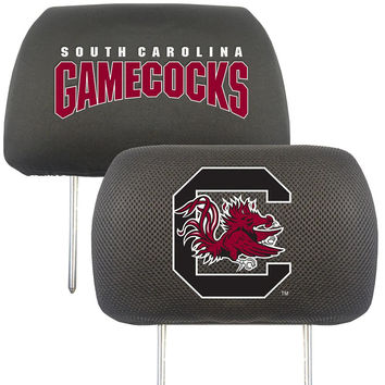 South Carolina Gamecocks NCAA Polyester Head Rest Cover (2 Pack)