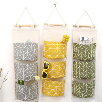 Wall Hanging Storage Bags Organizer Clothing Jewelry Closet Organizer Bags Pocket Hanging Holder Wall Storage Bags Racks 3 Color