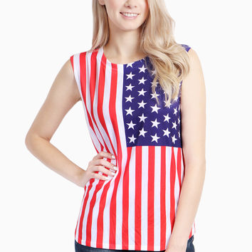 Vertical American Flag Top