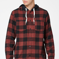 Modern Amusement Hooded Flannel Long Sleeve Button Up Shirt at PacSun.com