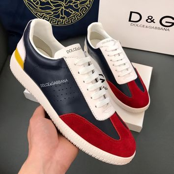DG Men Fashion Boots  fashionable casual leather  Breathable Sneakers Running Shoes Sneakers