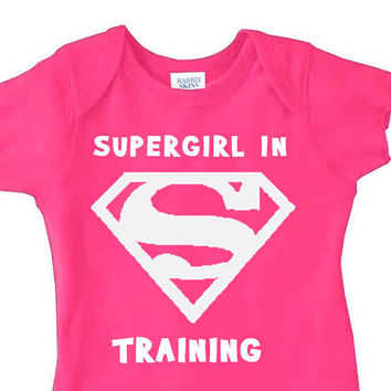 Supergirl In Training // 3 Snap Creeper // Baby Girl // Multi Colors Available