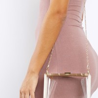 Clear Cut Hard Shoulder Bag