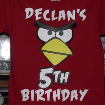 Angry Birds T-Shirt Bird Birthday Party Custom Shirt Personalized