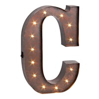''c'' LED Letter Wall Decor (Brown)