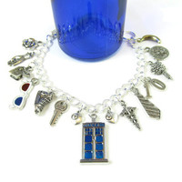 10: A Tenth Doctor / Doctor Who Inspired Charm Bracelet