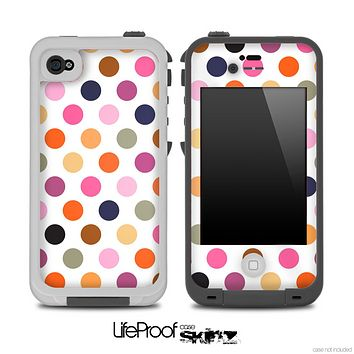 Small Polka V5 Fun Color Pattern Skin for the iPhone 5 or 4/4s LifeProof Case