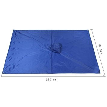 3 in 1 Multifunctional Outdoor Rain Poncho Backpack Rain Cover Waterproof Tent Awning Outdoor Camping Tent Mat