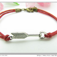 10OFF Discount Red Rope Bracelet Hunger Games by sevenvsxiao