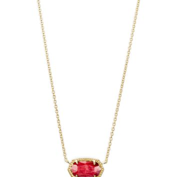 Kendra Scott: Elisa Gold Pendant Necklace In Red Mother Of Pearl