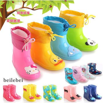 Free shipping 2017Children's shoes Rain Boots Winter Baby Boys Girls Snow Boots shoes fashion Baby shoes Children's Rubber boots