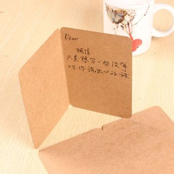 15x20cm Big Size Folding Type Kraft Blank Paper Cards DIY Party Message Paper Cards Wedding Cards 30pcs