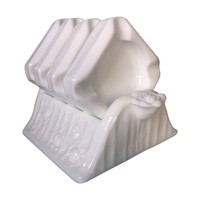 Pre-owned Fenton Milk-glass Rose Individual Ashtray Set