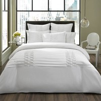 City Scene Triple Diamond White Comforter Set | www.hayneedle.com