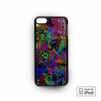 trippy alice in wonderland for iPod 6 apple cases