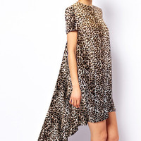 Hi-Lo Dress- Cheetah
