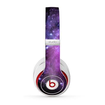 The Violet Glowing Nebula Skin for the Beats by Dre Studio (2013+ Version) Headphones