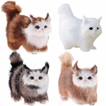 Plush Cat Doll Toys Stuffed Toys Lovely Electric Simulation Plush Cat Toys Stuffed Doll with Sound Kids Gift Home Ornaments