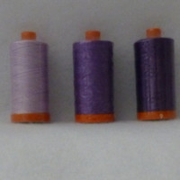 Thread, Cotton Thread, Aurifil Thread,Quilt Thread, Sewing Thread, Shades of Purple, 1300m/1420 Yards, Fast Shipping