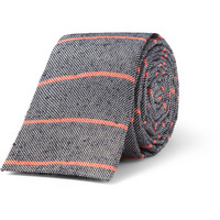 A.P.C. - Striped Slub Woven-Silk Tie | MR PORTER